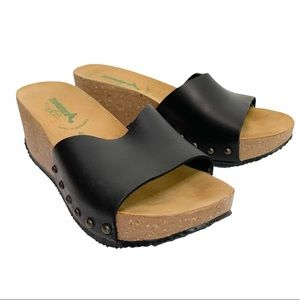 BioNatura / Leather Wedge Mule / Made in Italy